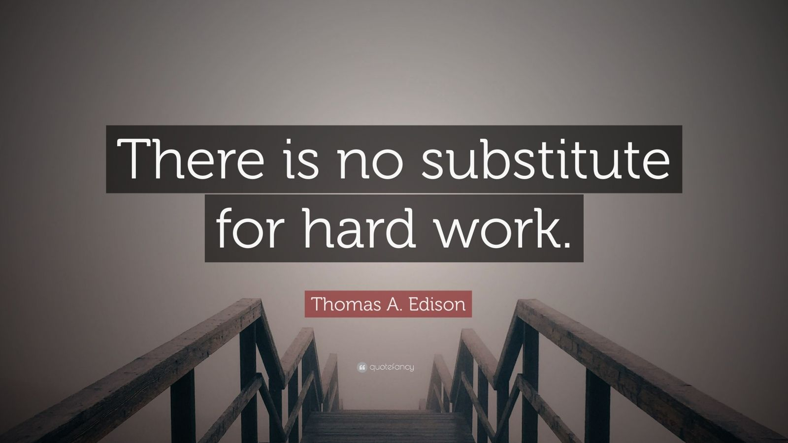 Thomas A Edison Quote There is no substitute for hard