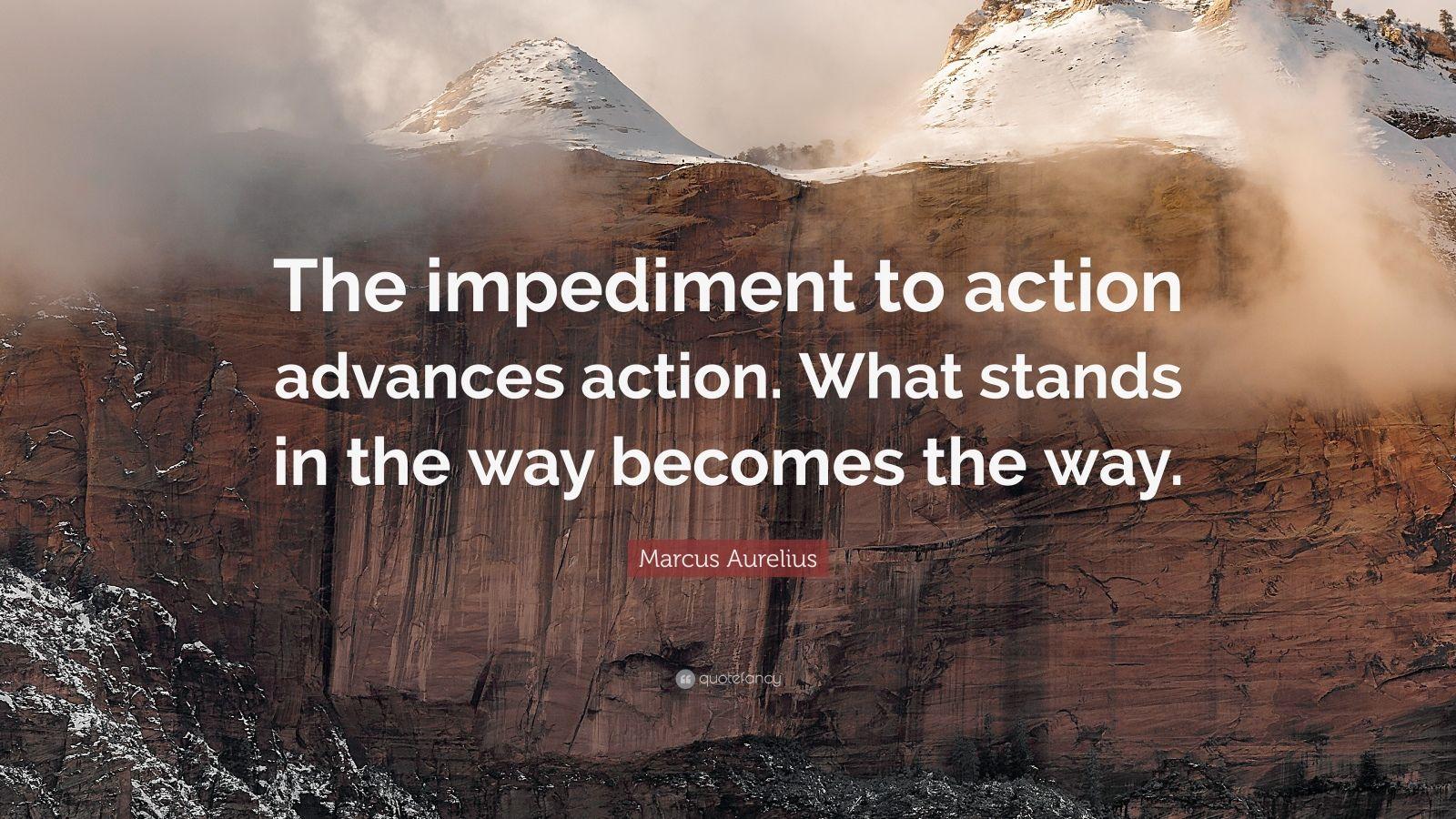 Dalai Lama Wallpaper Quotes Marcus Aurelius Quote The Impediment To Action Advances