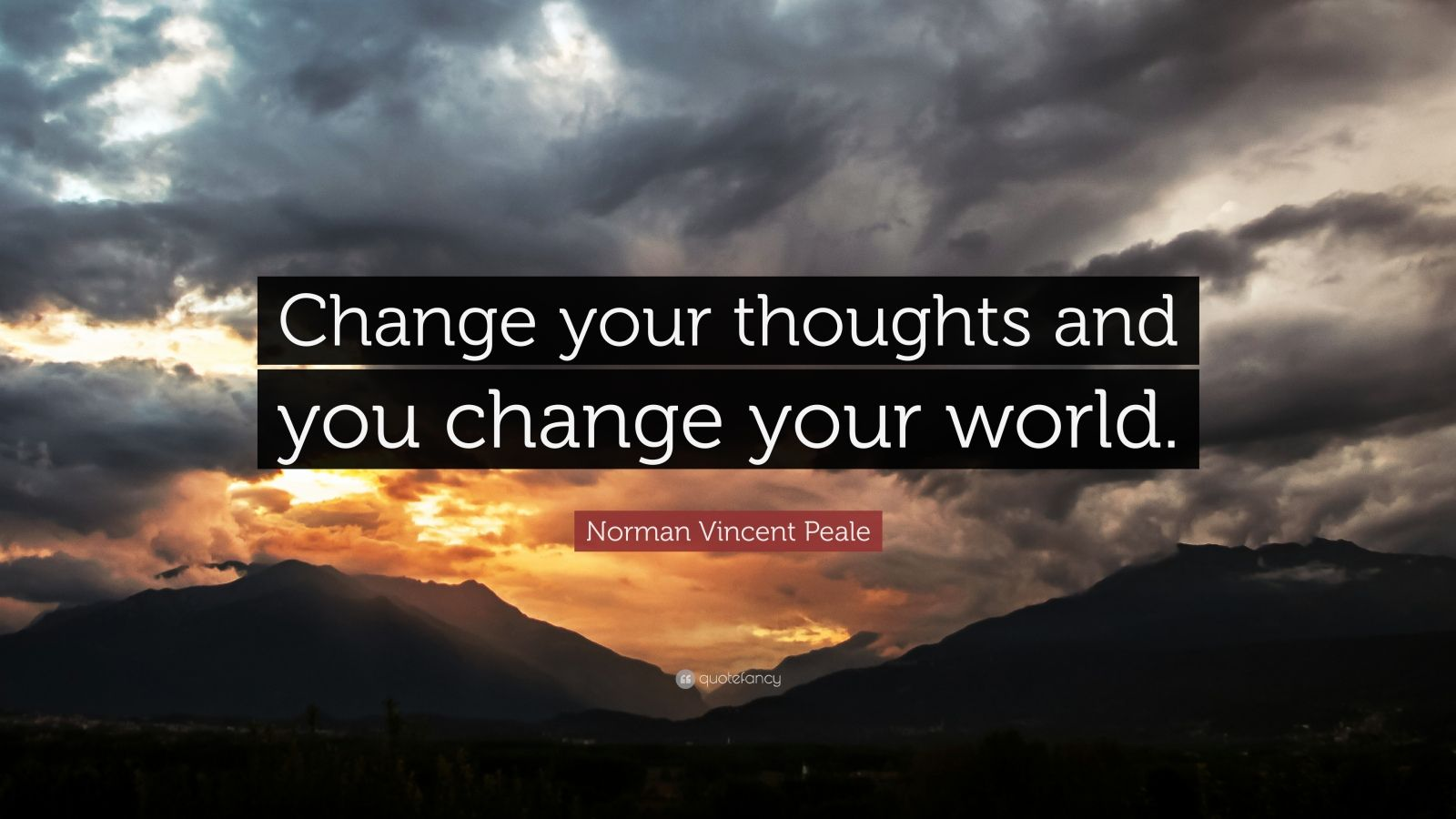 Motivational Quotes To Study Wallpaper Norman Vincent Peale Quote Change Your Thoughts And You