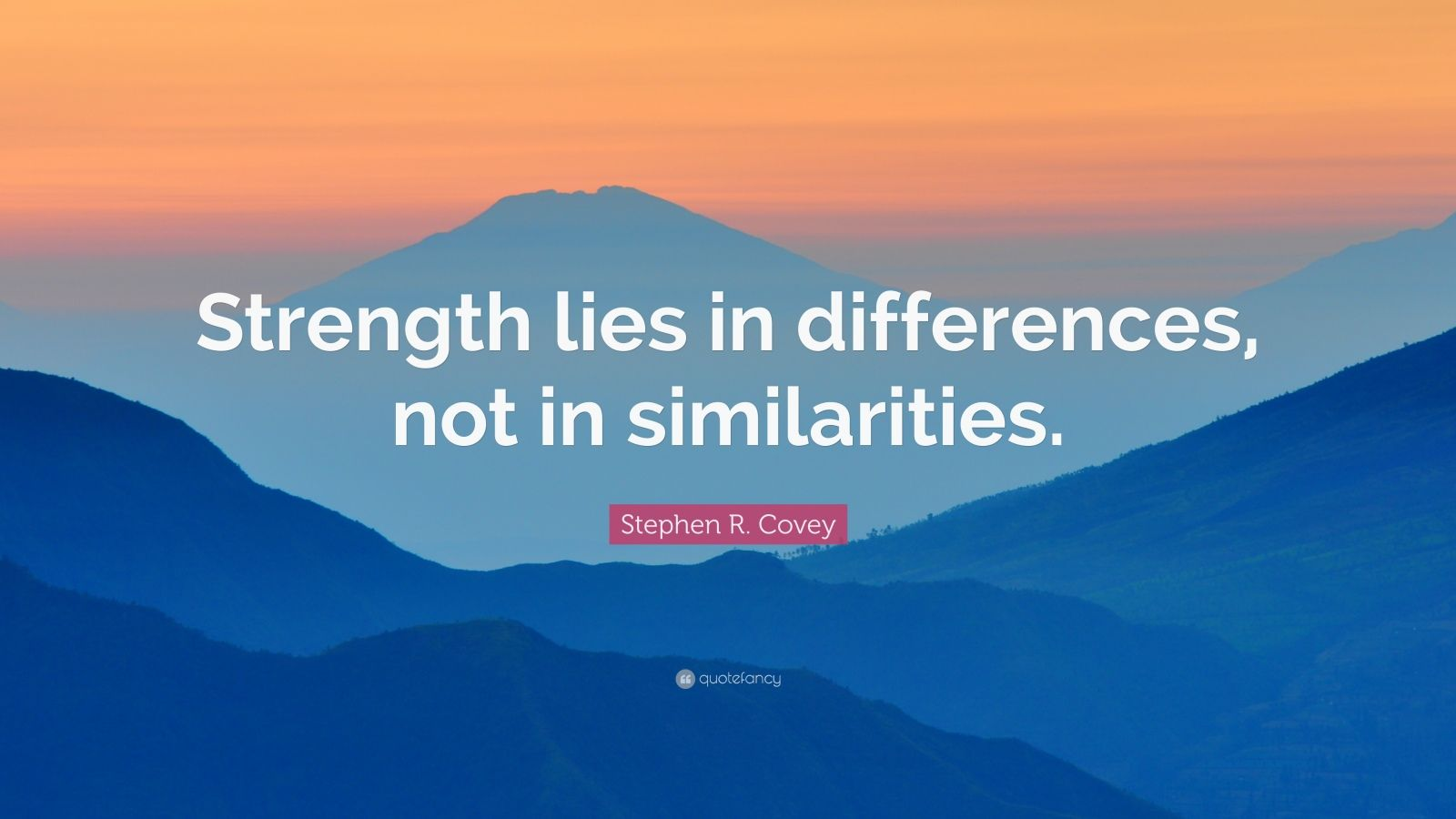Business Success Quotes Wallpaper Stephen R Covey Quote Strength Lies In Differences Not