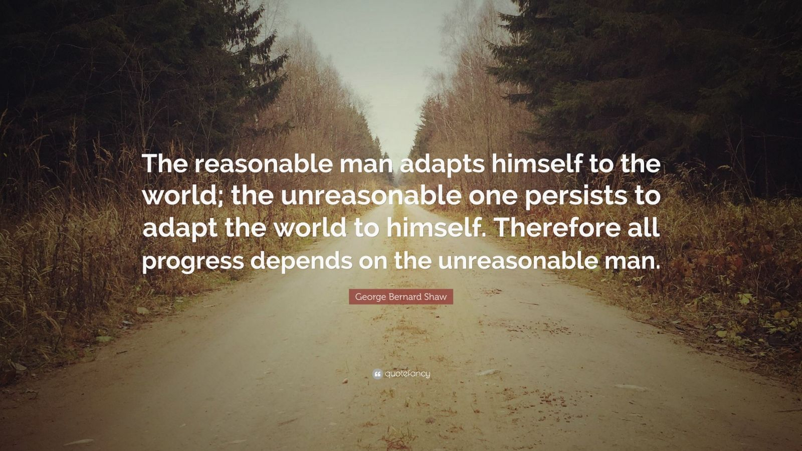 Beautiful Quotes Inspirational Wallpapers George Bernard Shaw Quote The Reasonable Man Adapts