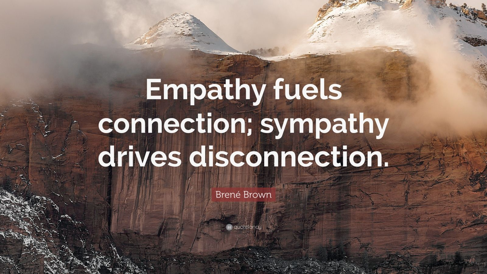 Brene Brown Quote Empathy Fuels Connection Sympathy
