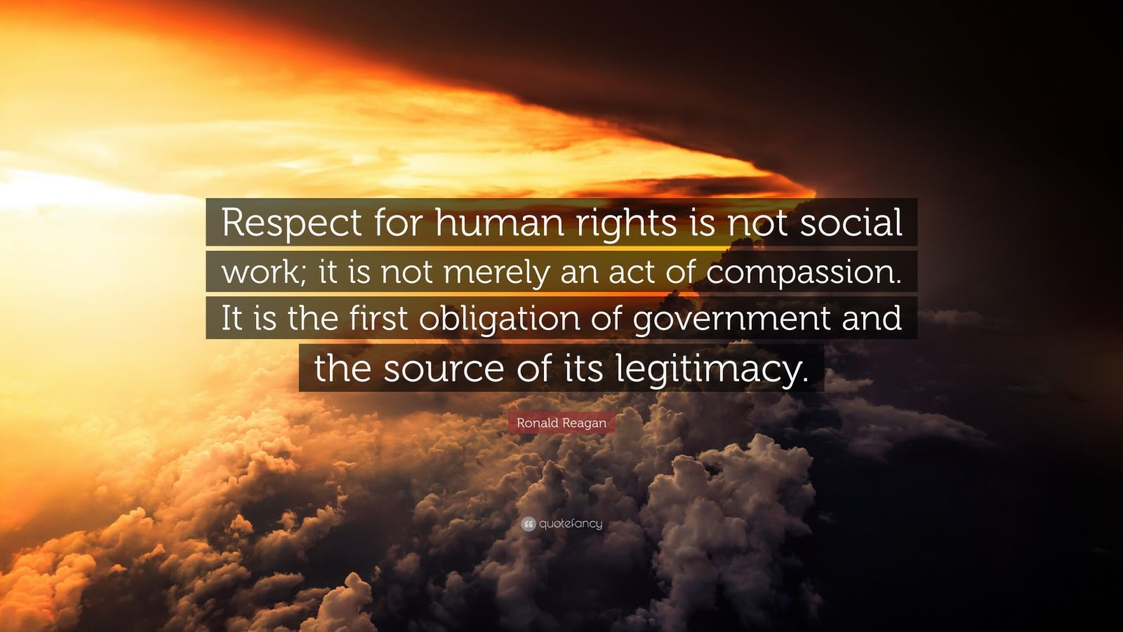 Inspiring Relationship Quotes Wallpaper Ronald Reagan Quote Respect For Human Rights Is Not