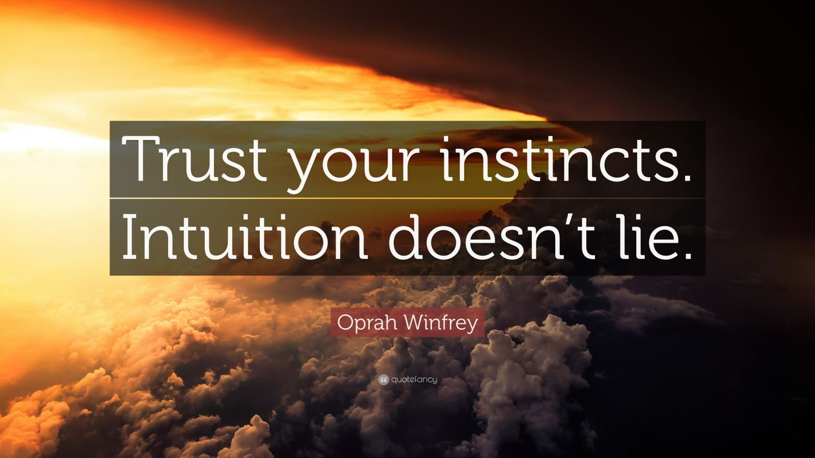 Love Trust Quotes Wallpaper Oprah Winfrey Quote Trust Your Instincts Intuition