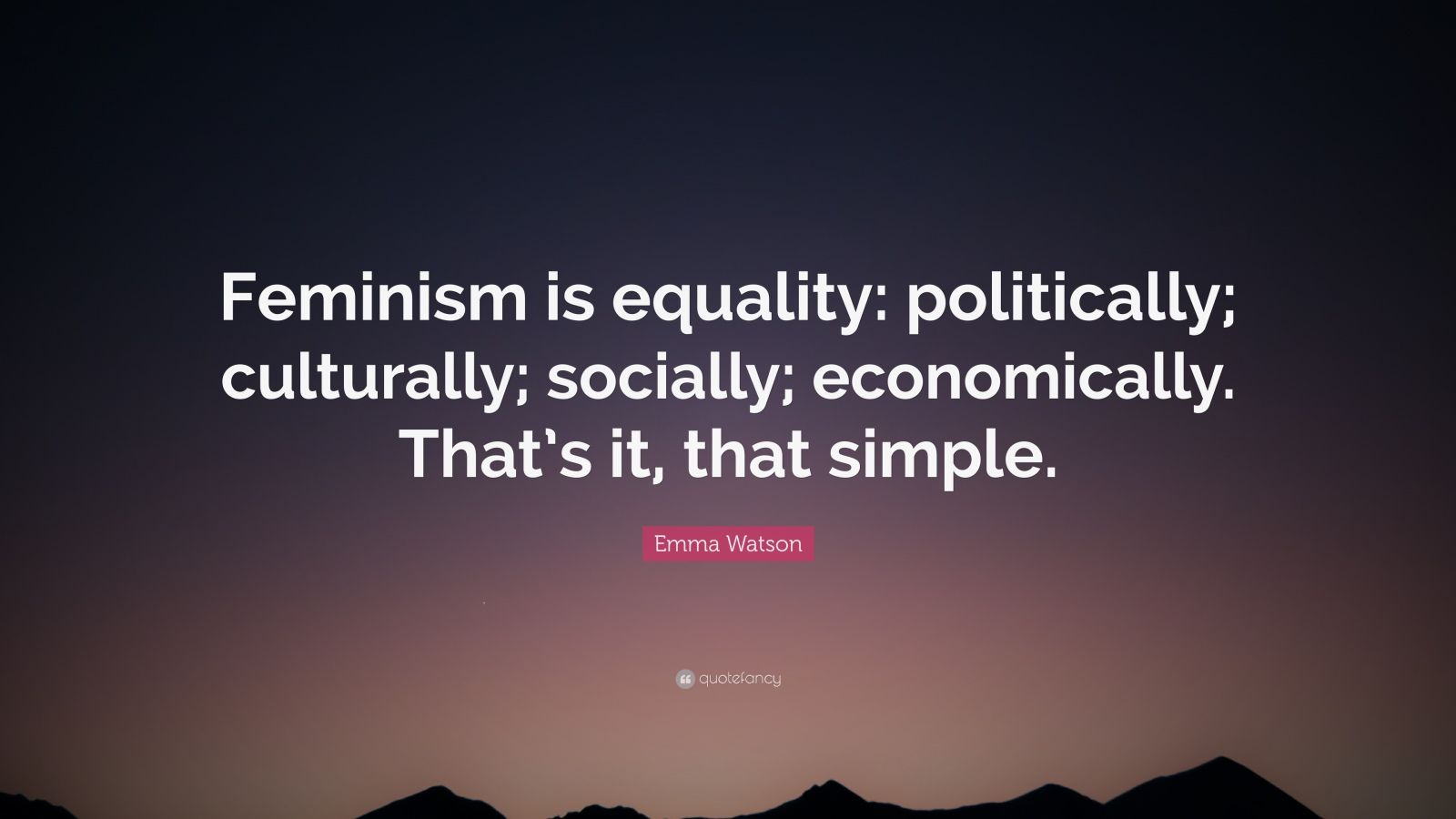 Doll Wallpaper With Quotes Emma Watson Quote Feminism Is Equality Politically