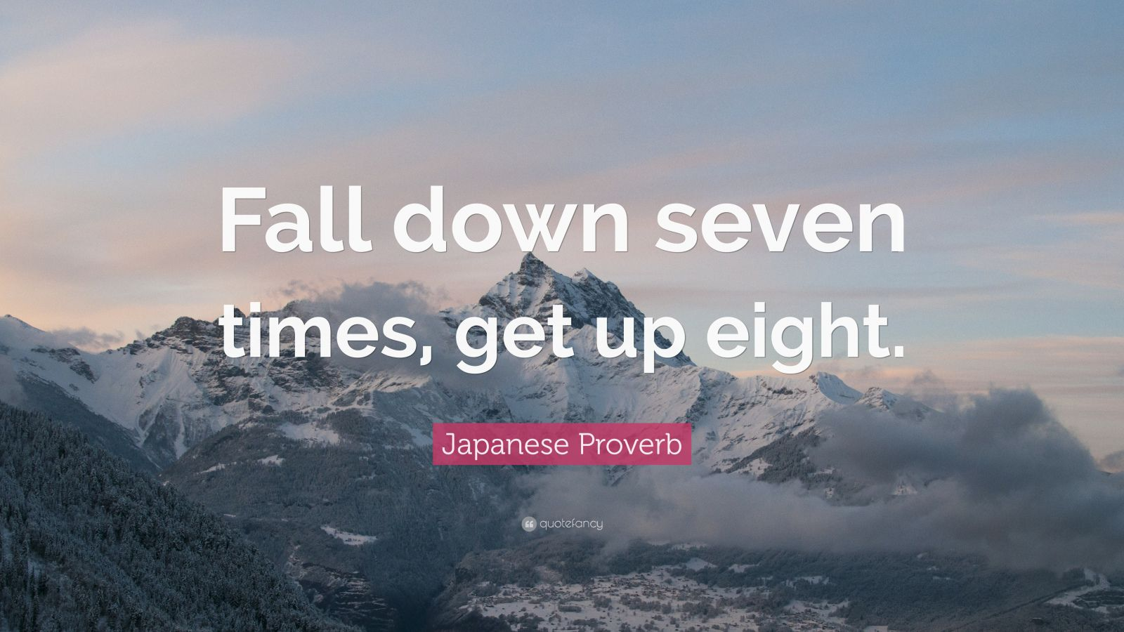 Hd Night Sky With Motivational Quotes Wallpaper For Desktop Japanese Proverb Quote Fall Down Seven Times Get Up
