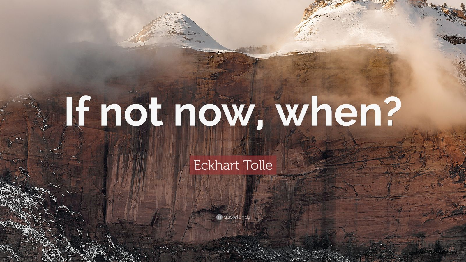 Quotes On Success Wallpapers Eckhart Tolle Quote If Not Now When 23 Wallpapers