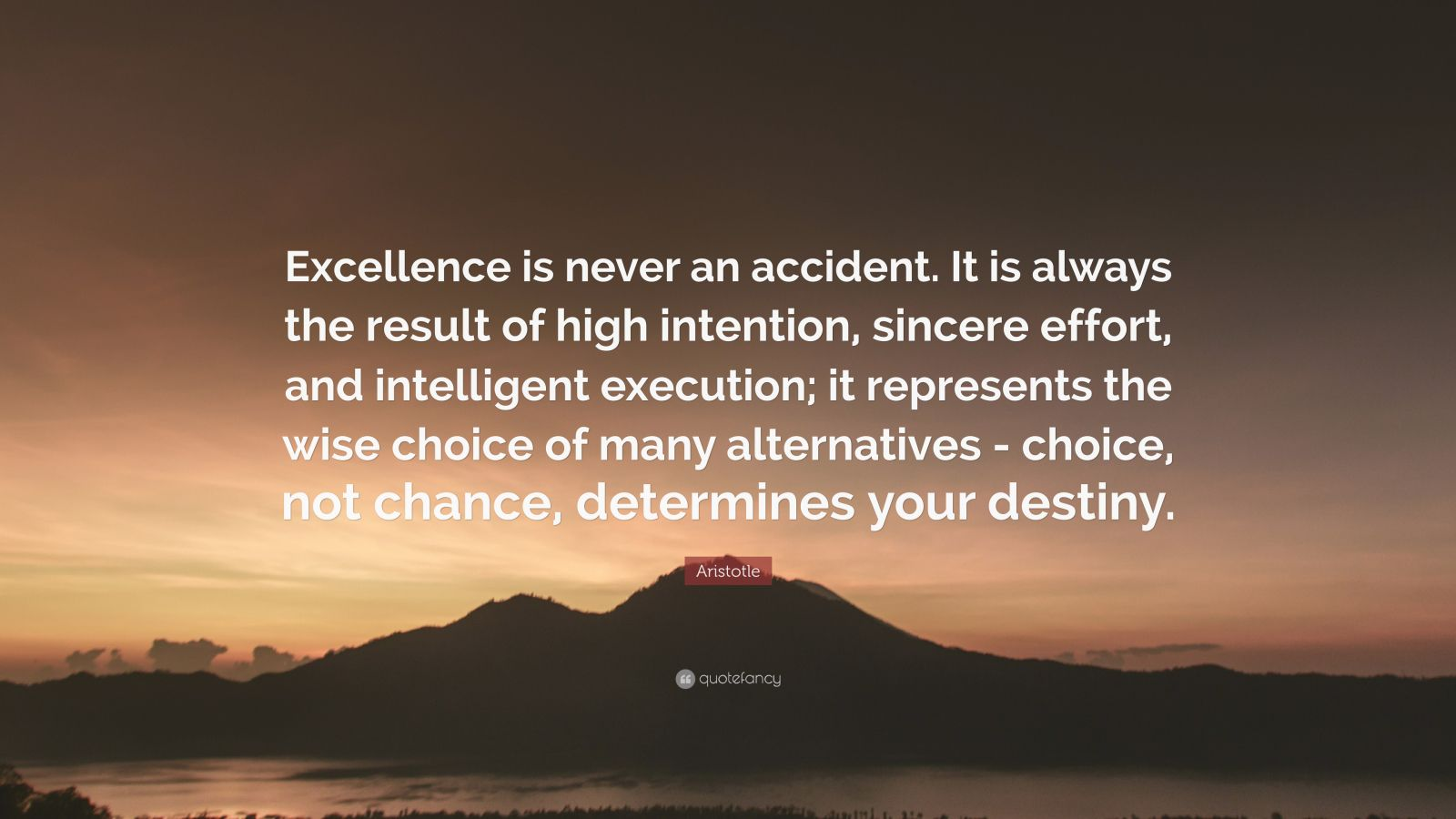 Persistence Quotes Wallpapers Aristotle Quote Excellence Is Never An Accident It Is