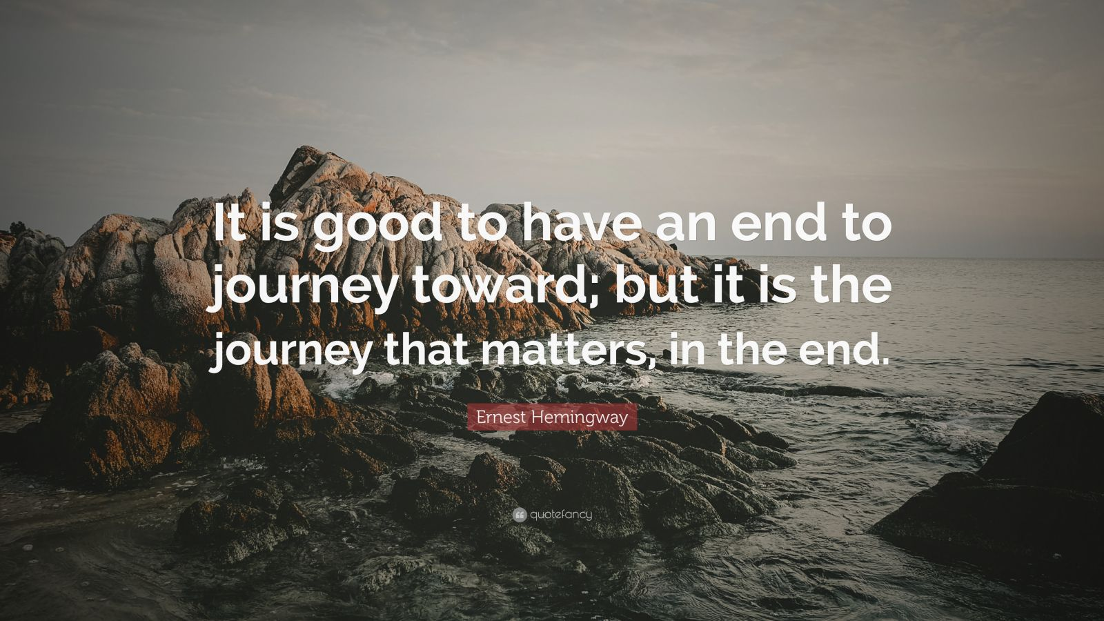 Ernest Hemingway Quote Wallpaper Ernest Hemingway Quote It Is Good To Have An End To