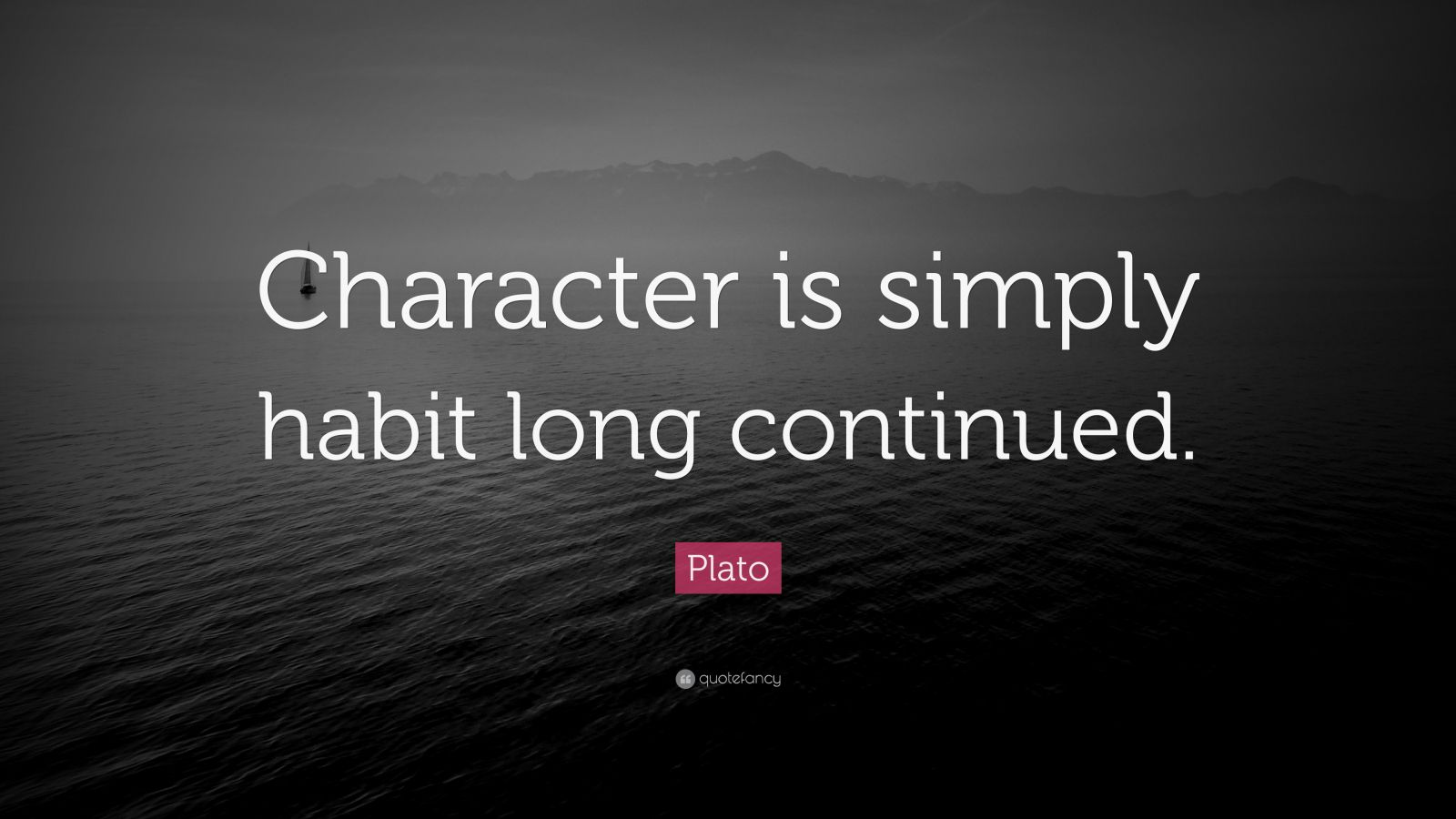 Nietzsche Quotes Wallpaper Plato Quote Character Is Simply Habit Long Continued