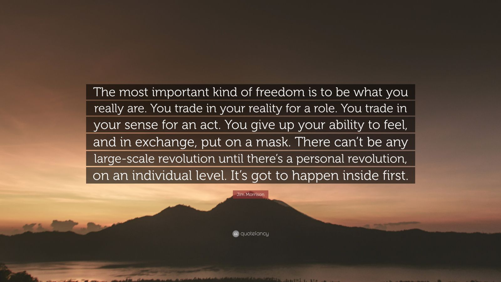 Very Sad Wallpaper With Quotes Jim Morrison Quote The Most Important Kind Of Freedom Is