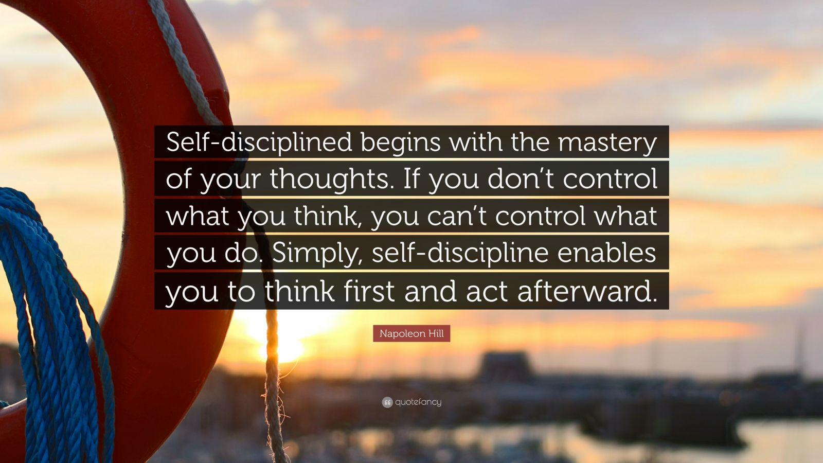 Persistence Quotes Wallpapers Napoleon Hill Quote Self Disciplined Begins With The