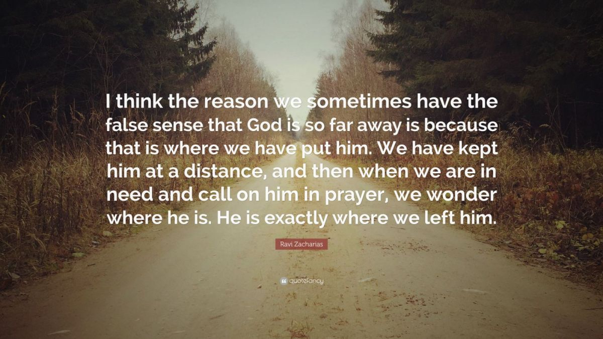 "Ravi Zacharias Quote: ""I think the reason we sometimes ..."