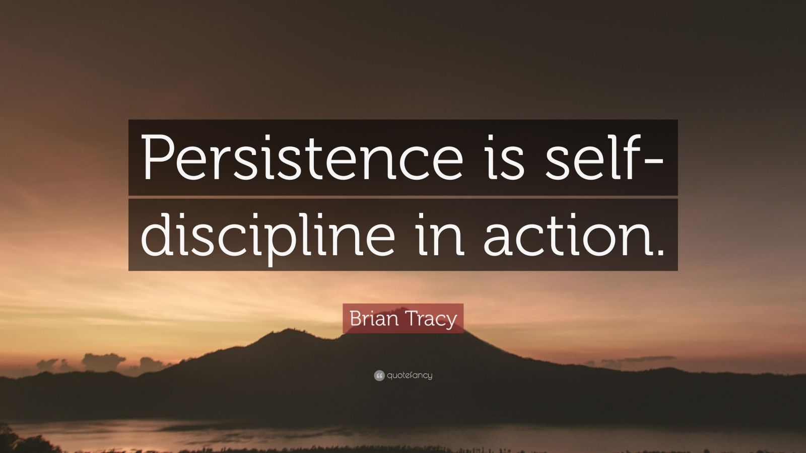 Consistency Quotes Wallpaper Brian Tracy Quote Persistence Is Self Discipline In