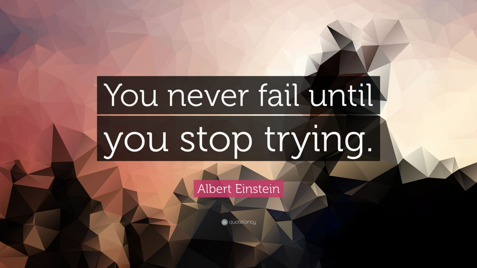 Albert Einstein Wallpaper Quotes Albert Einstein Quote You Never Fail Until You Stop
