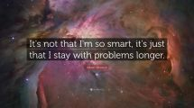 Albert Einstein Quote ' Smart