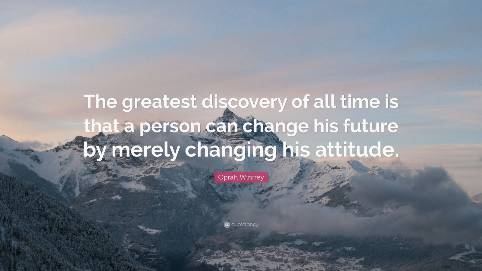 Change Quote Wallpaper Oprah Winfrey Quote The Greatest Discovery Of All Time