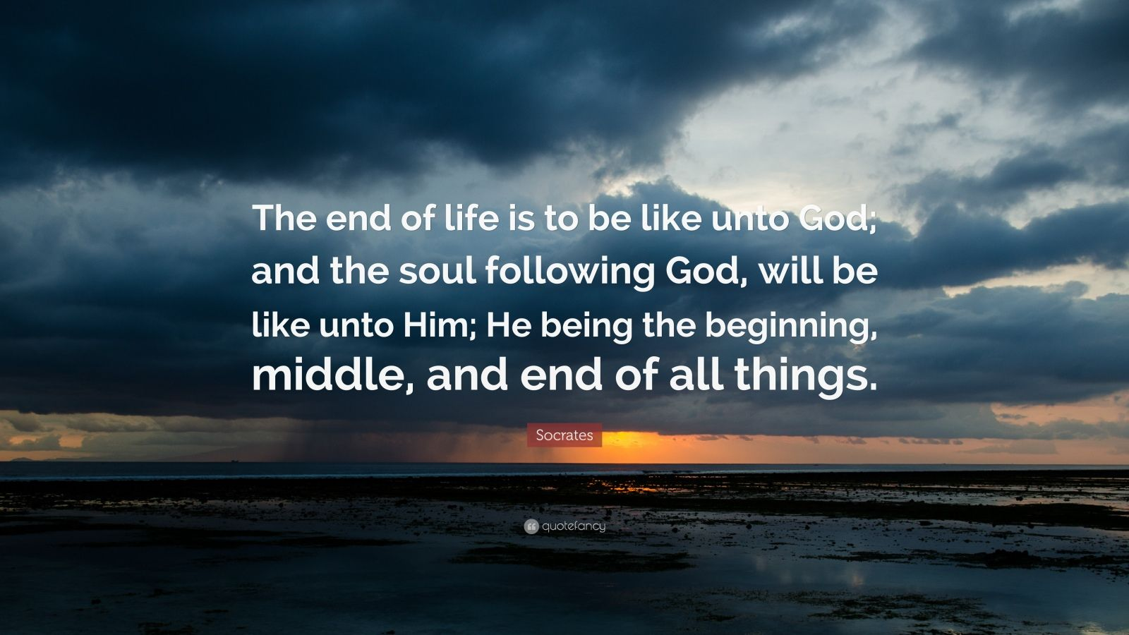 Osho Hd Wallpaper Socrates Quote The End Of Life Is To Be Like Unto God