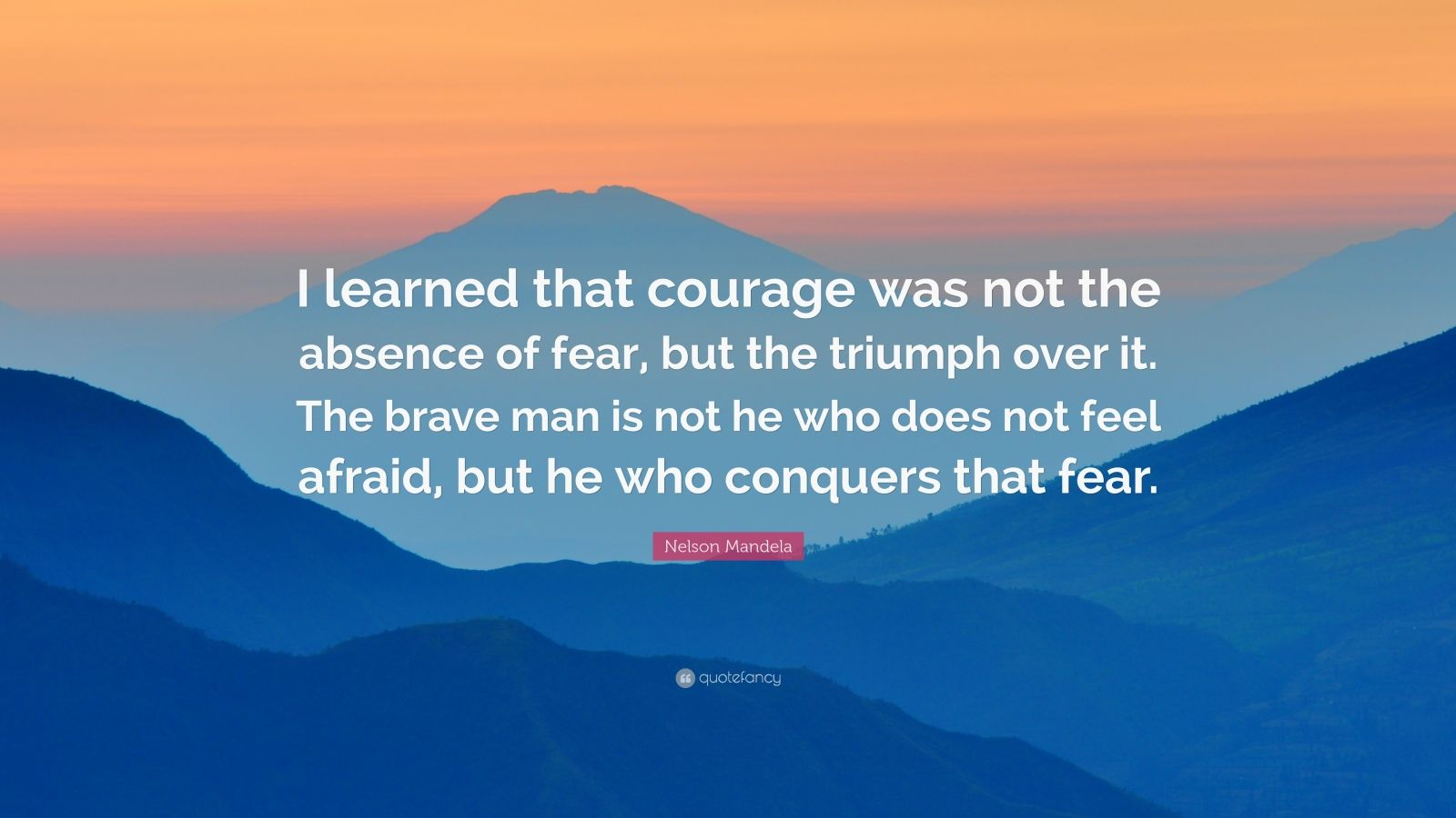 Brian Tracy Quotes Wallpaper Nelson Mandela Quote I Learned That Courage Was Not The