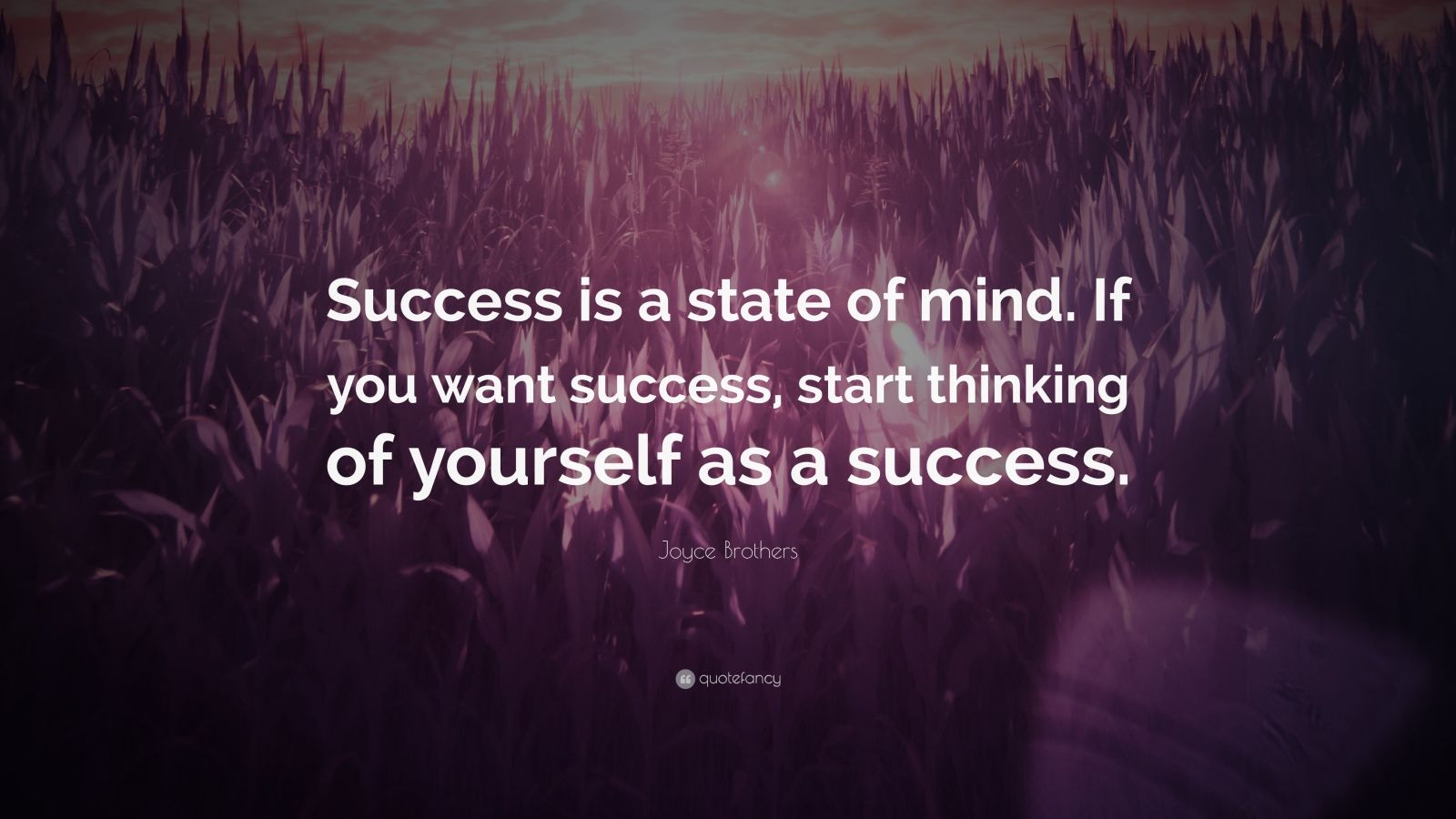 Business Success Quotes Wallpaper Joyce Brothers Quote Success Is A State Of Mind If You