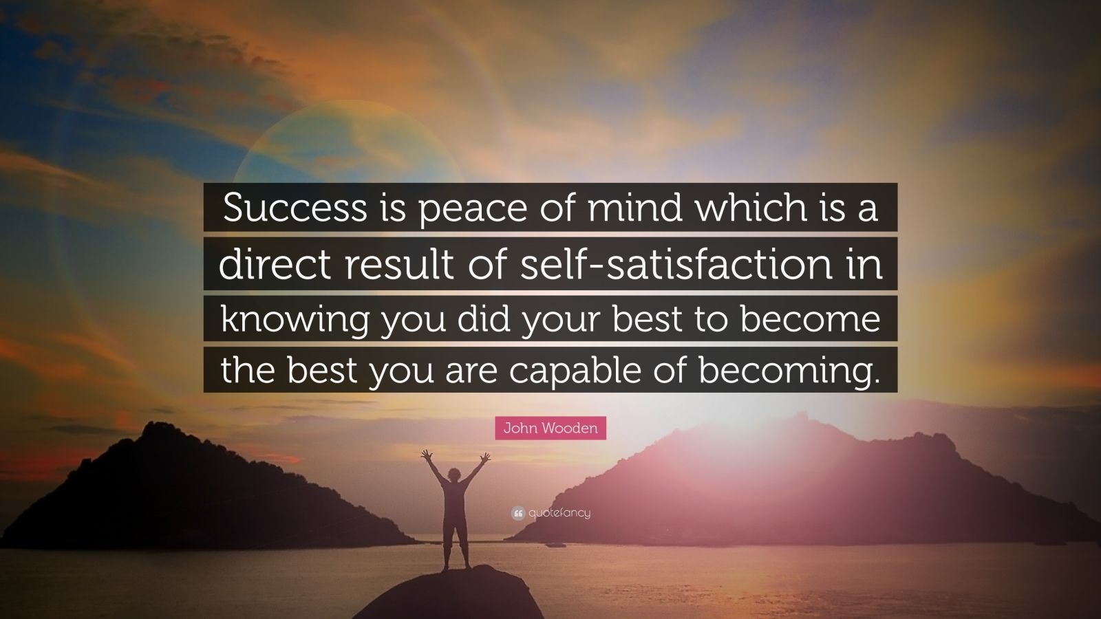 Wallpaper Quote About Life John Wooden Quote Success Is Peace Of Mind Which Is A