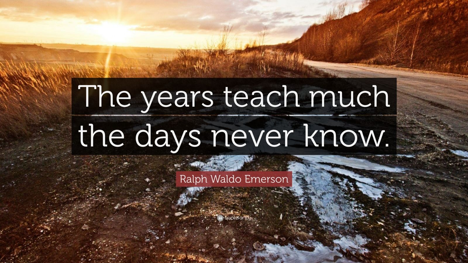 Ralph Waldo Emerson Quote The Years Teach Much The Days