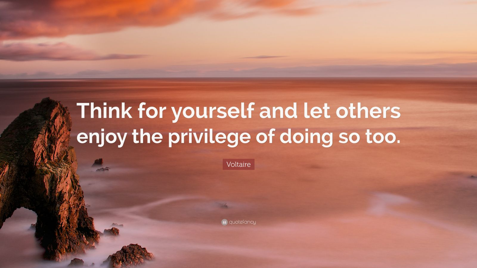 Zen Quote Wallpaper Voltaire Quote Think For Yourself And Let Others Enjoy