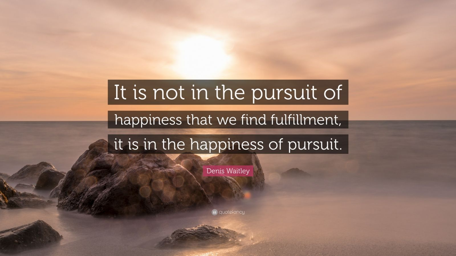 Denis Waitley Quote It Is Not In The Pursuit Of