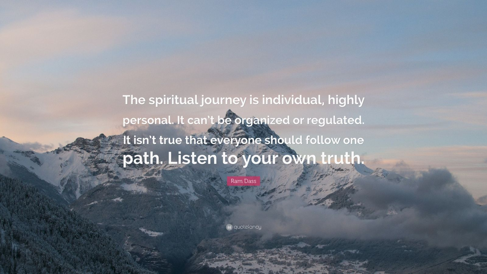 Wallpaper Of Yoga Quote Ram Dass Quote The Spiritual Journey Is Individual