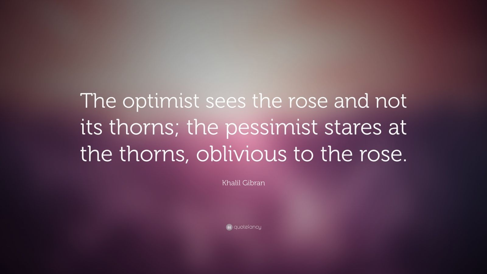Best Love Wallpaper With Lovely Quotes Khalil Gibran Quote The Optimist Sees The Rose And Not