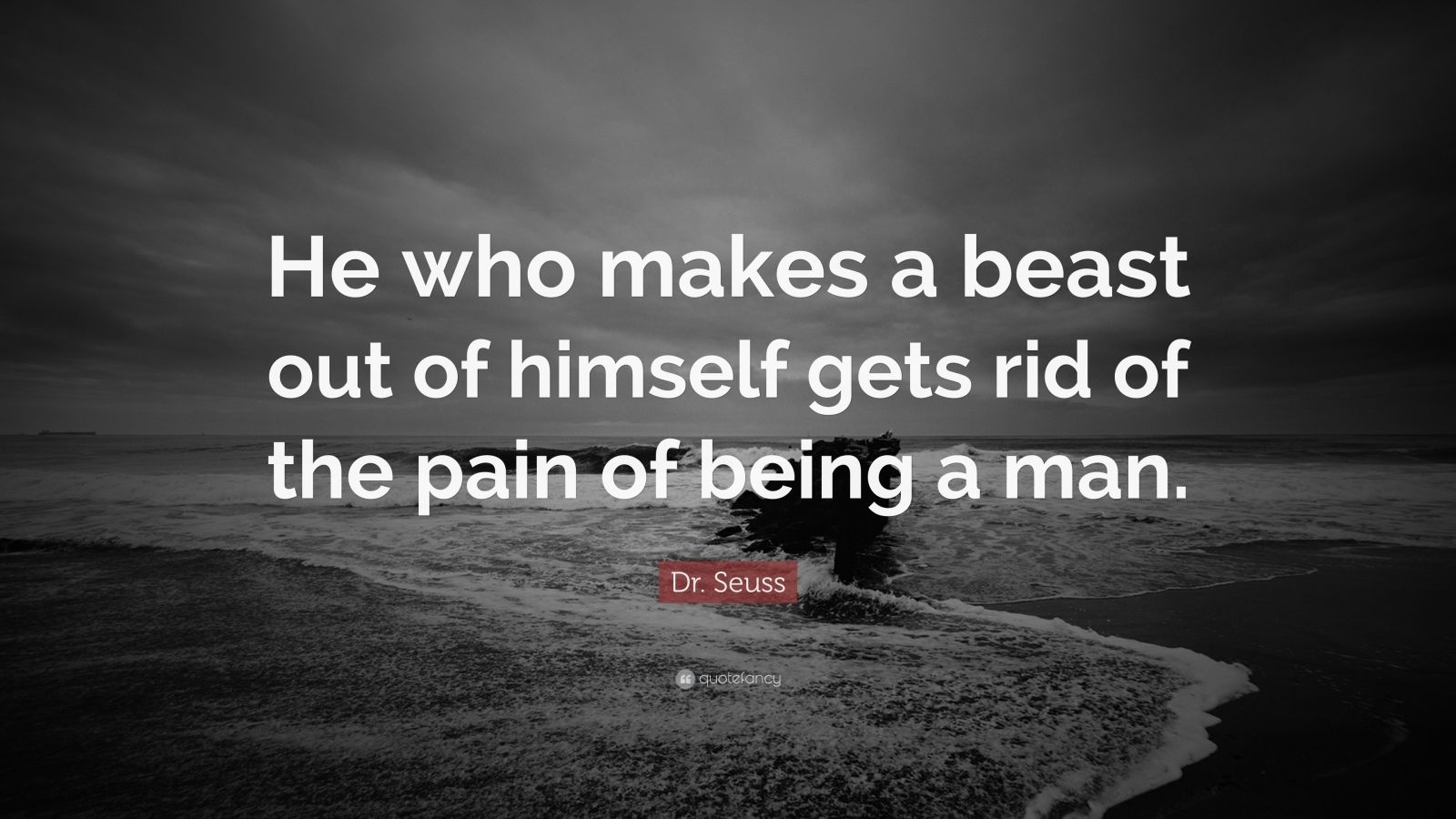 New Quotes Wallpaper Dr Seuss Quote He Who Makes A Beast Out Of Himself Gets
