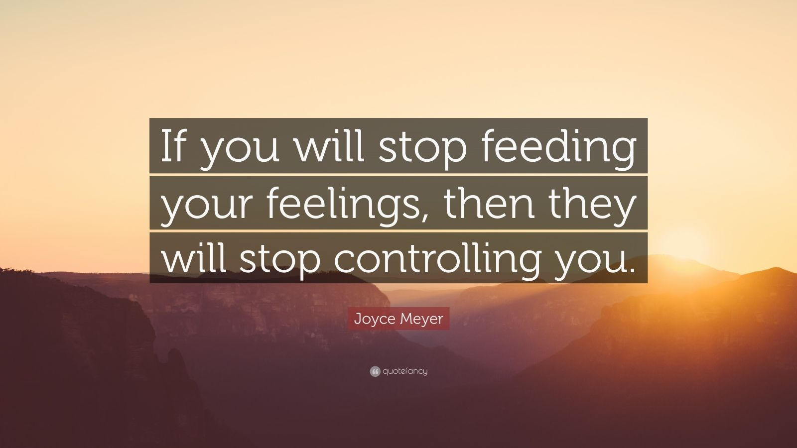 Pain Wallpaper Quotes Joyce Meyer Quote If You Will Stop Feeding Your Feelings