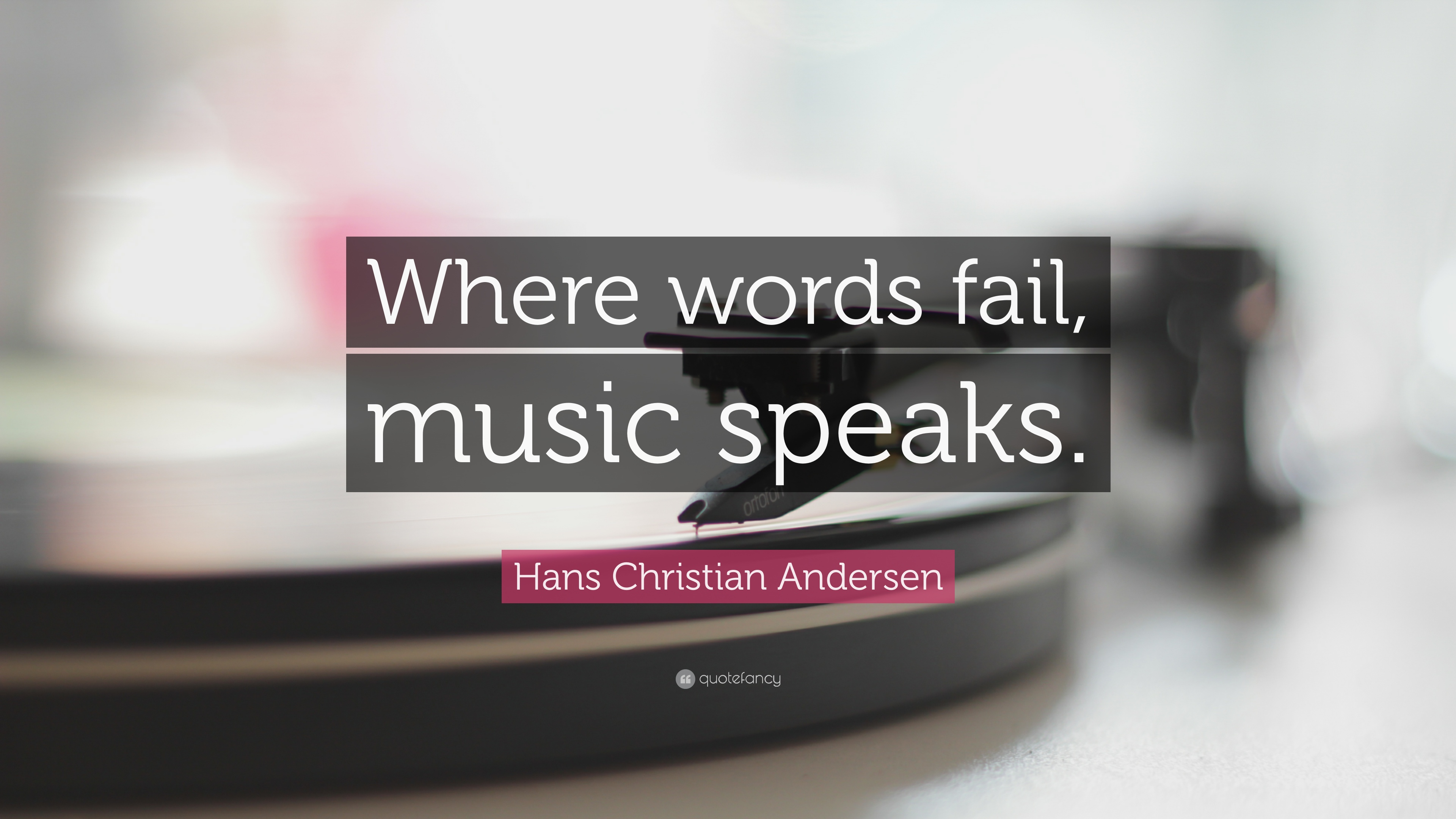 Spiritual Quotes For Laptop Wallpaper Hans Christian Andersen Quote Where Words Fail Music