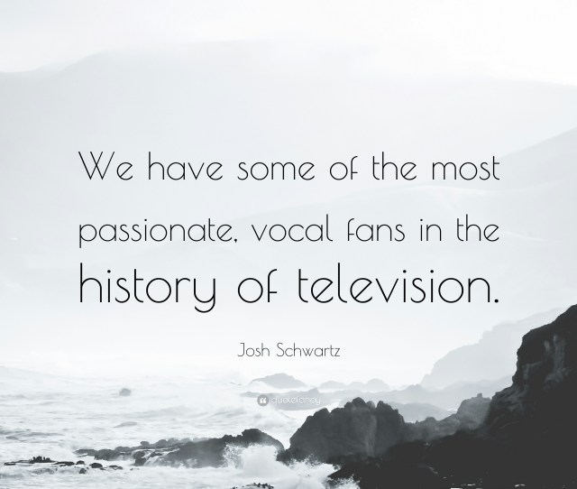 Josh Schwartz Quote We Have Some Of The Most Passionate Vocal Fans In