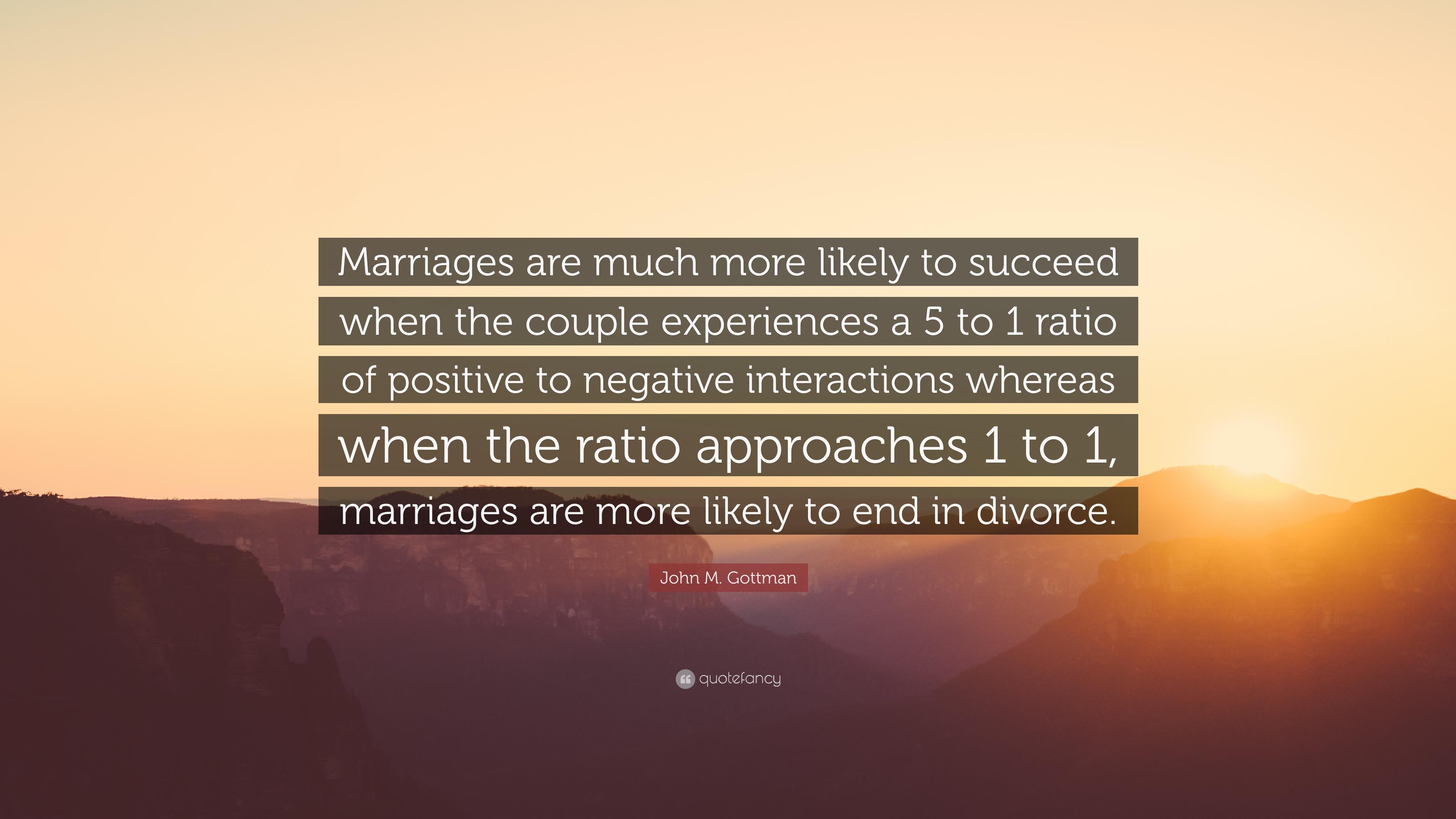 John Gottman Divorce