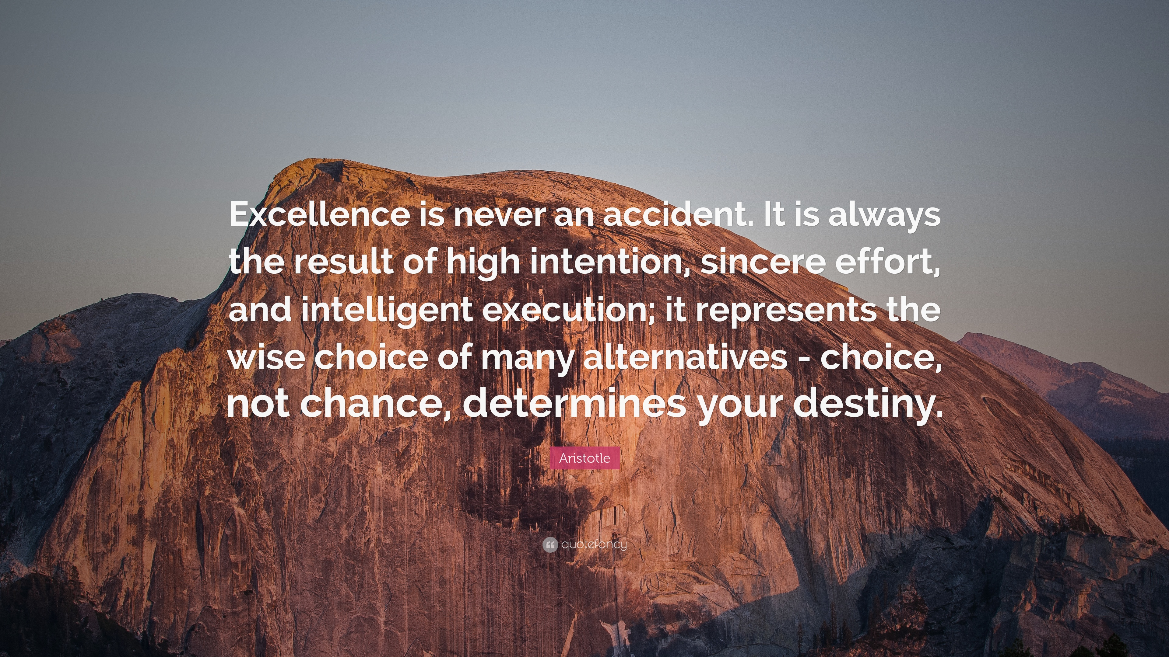 Aristotle Quotes Wallpaper Aristotle Quote Excellence Is Never An Accident It Is