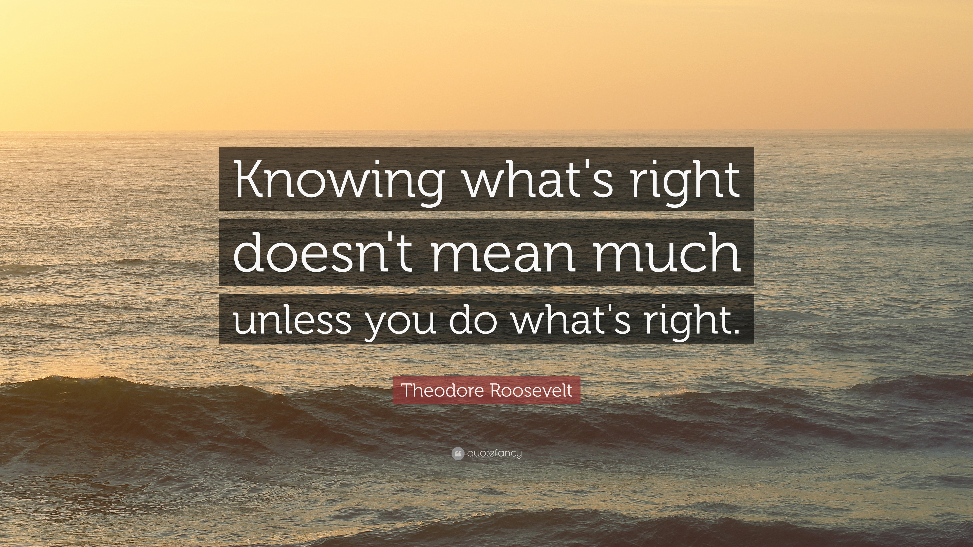 Theodore Roosevelt Quote Knowing What S Right Doesn T