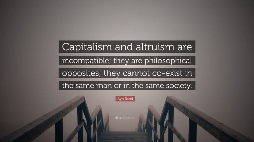 Image result for ayn rand quotes on altruism