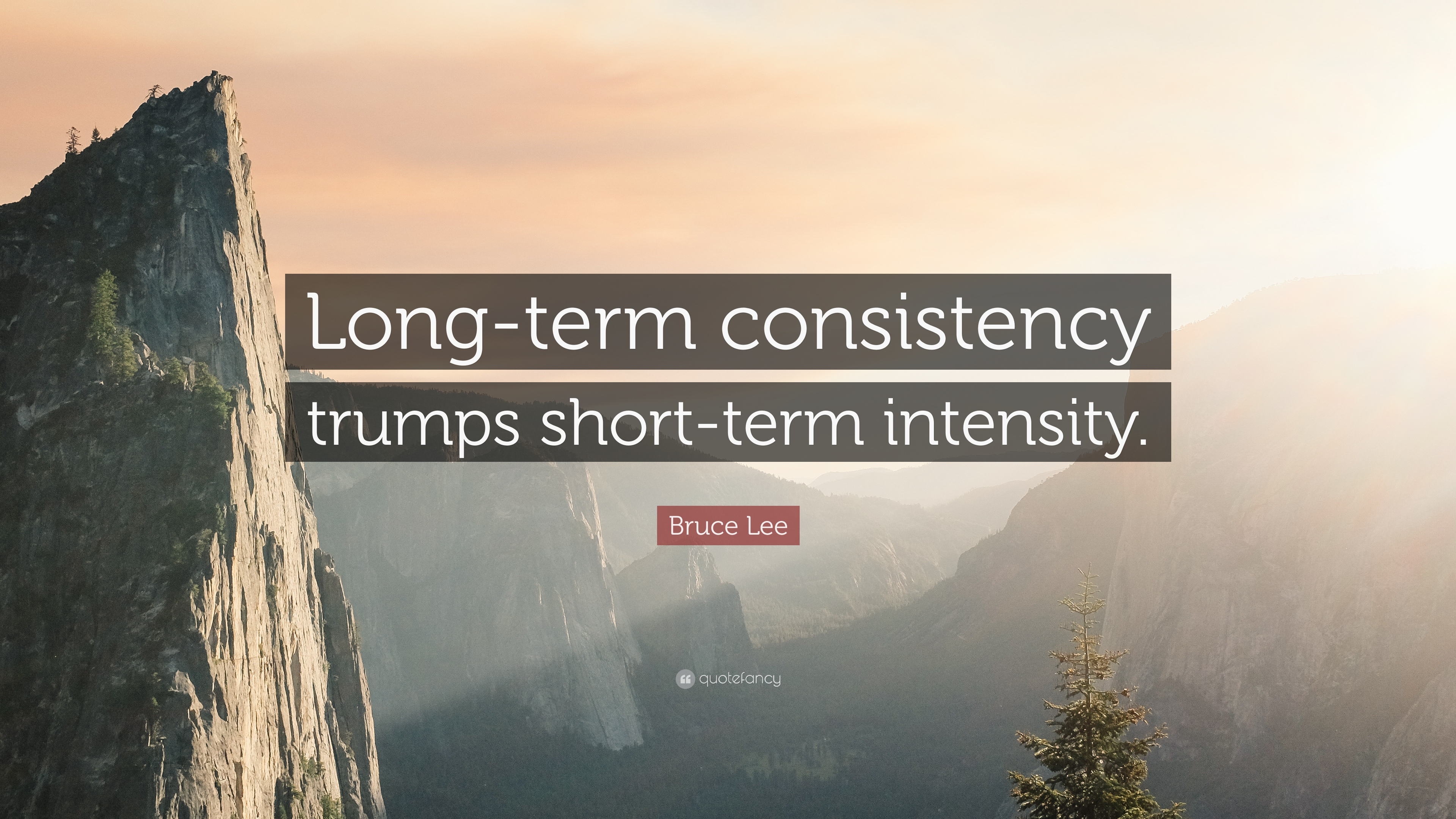 Bruce Lee Quote Longterm consistency trumps shortterm