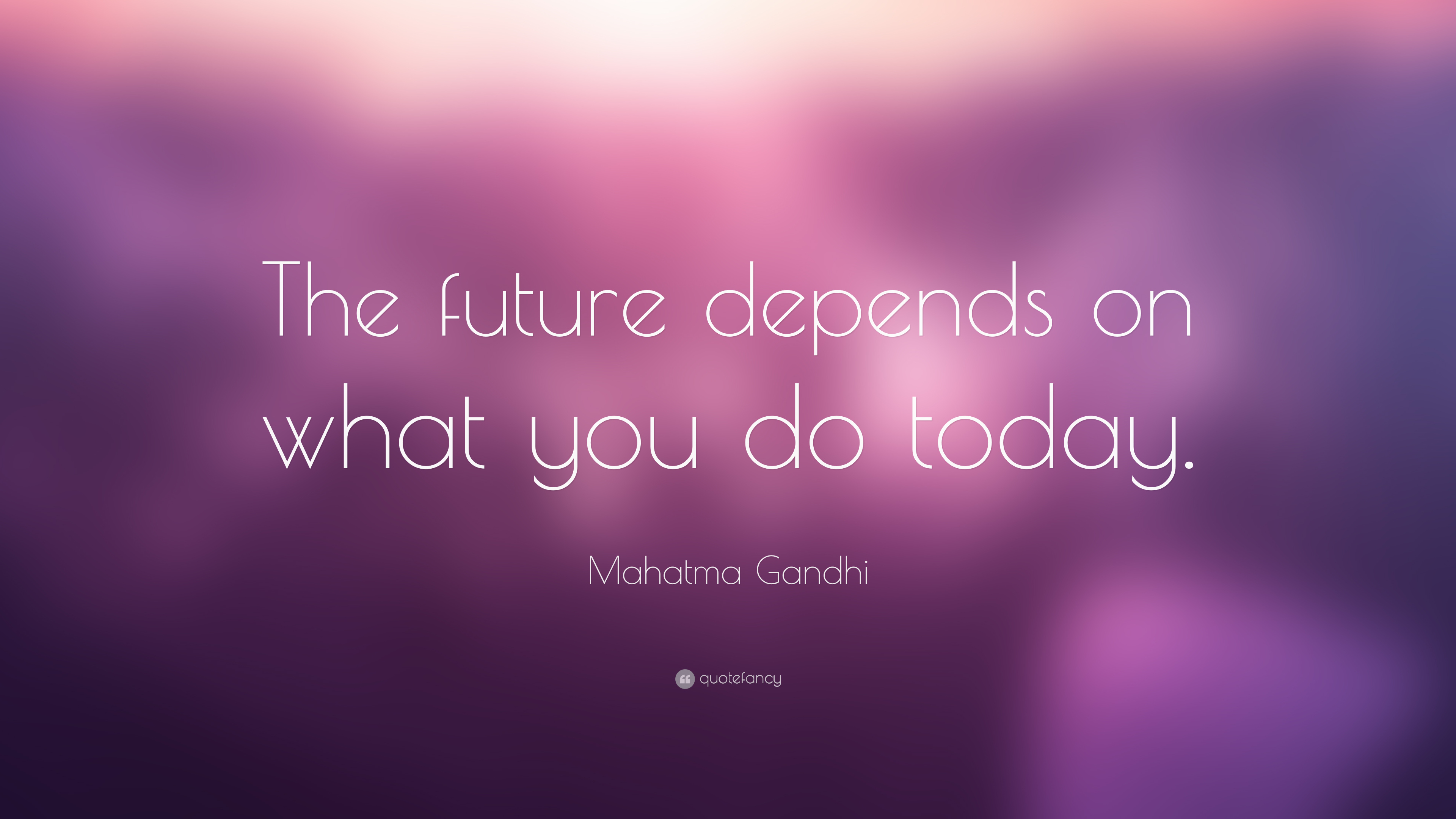 Gandhi Wallpapers With Quotes Mahatma Gandhi Quote The Future Depends On What You Do