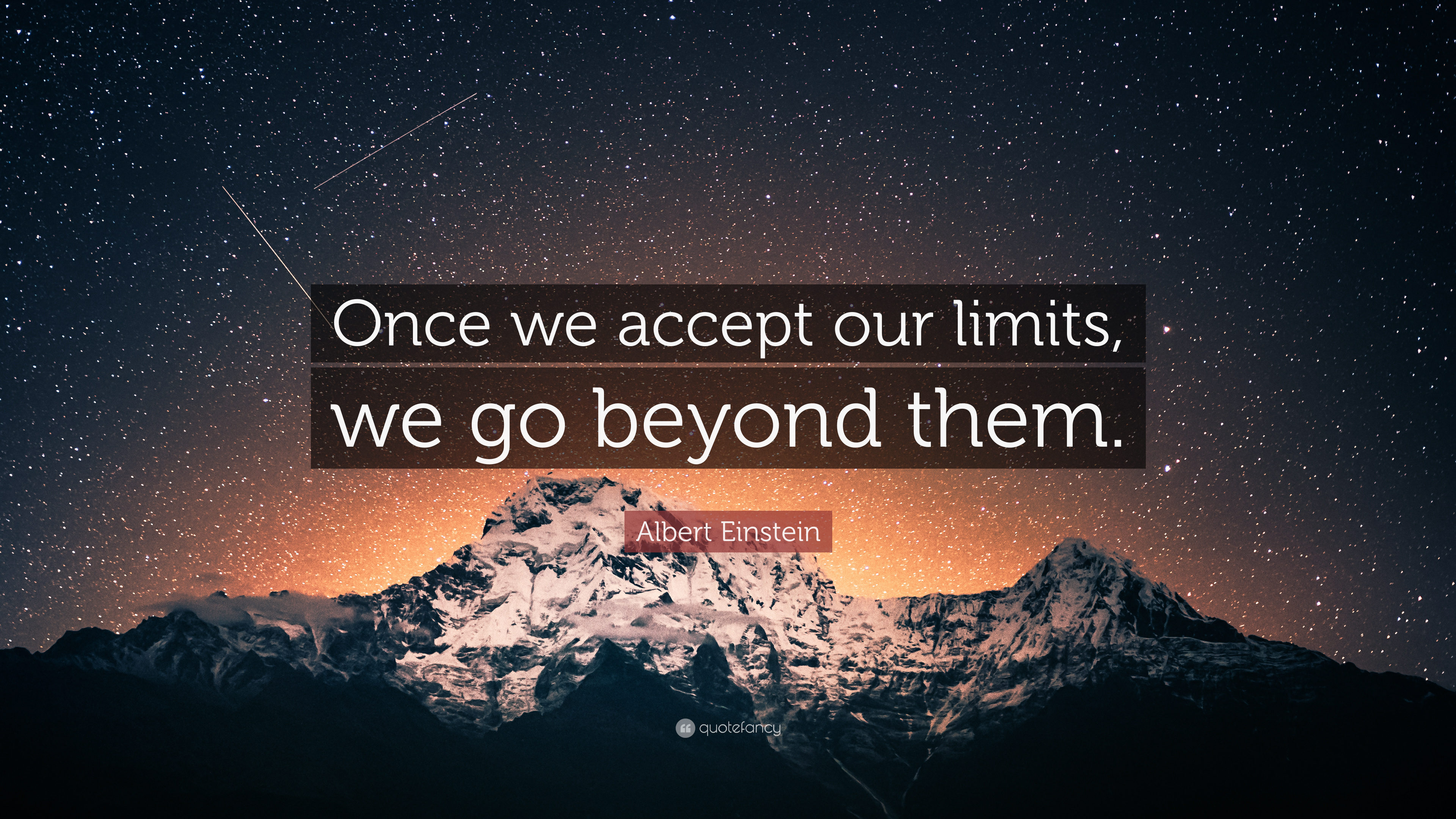 Create Quote Wallpaper Albert Einstein Quote Once We Accept Our Limits We Go