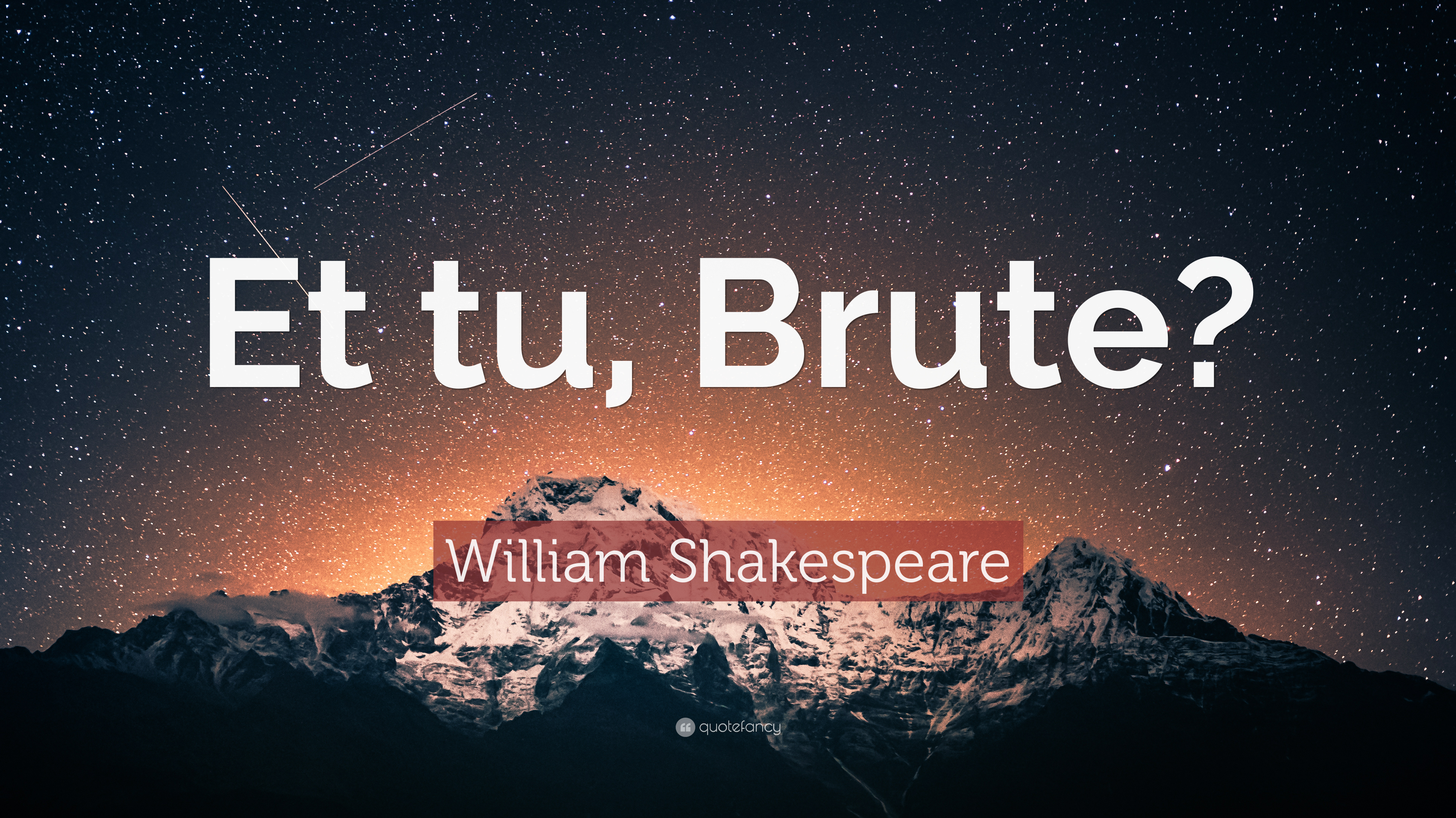 Shakespeare Wallpapers With Quotes William Shakespeare Quote Et Tu Brute 16 Wallpapers