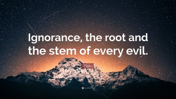 Plato Quote Ignorance Root And Stem Of