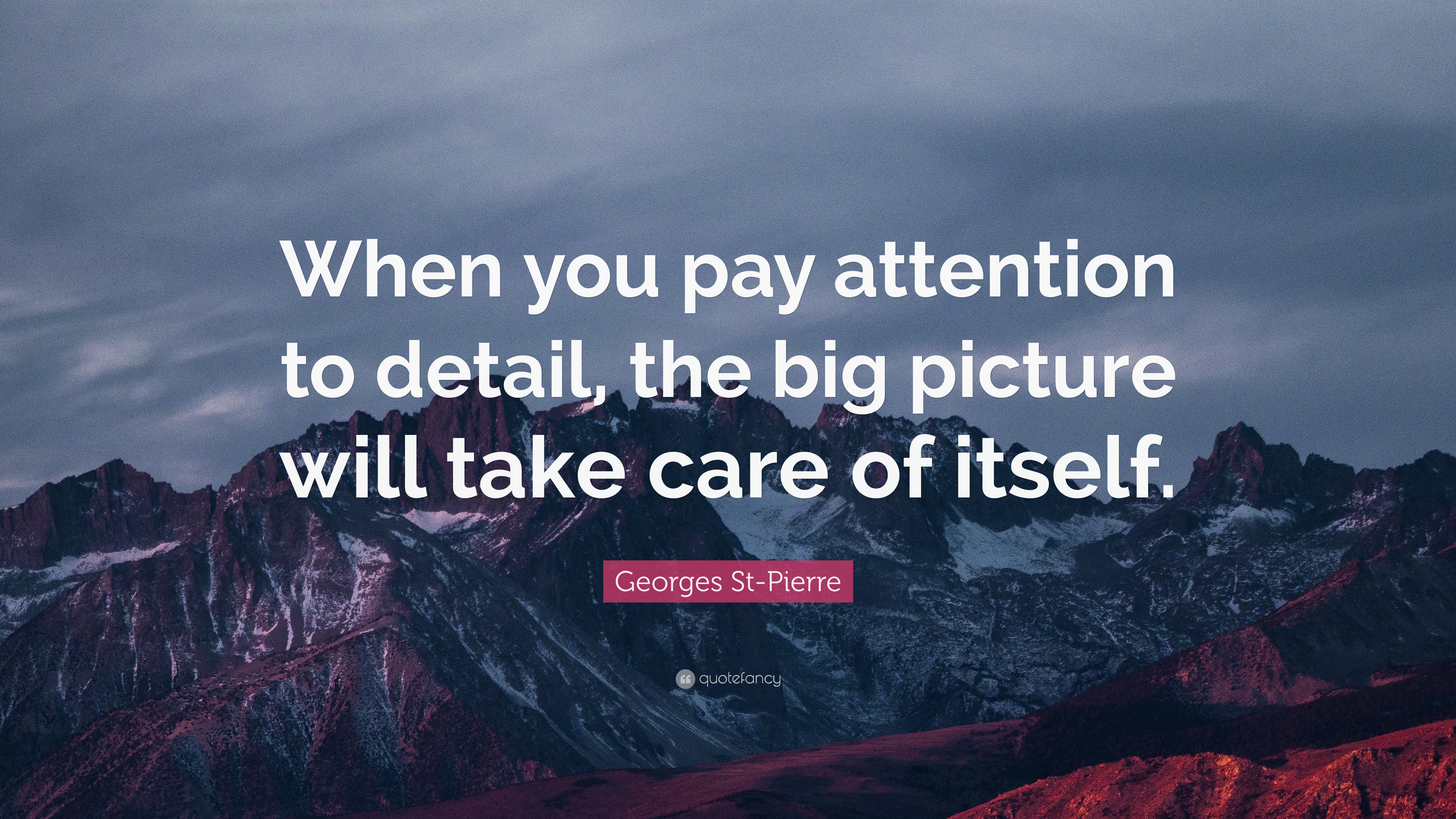 """Georges St-Pierre Quote: """"When you pay attention to detail ..."""