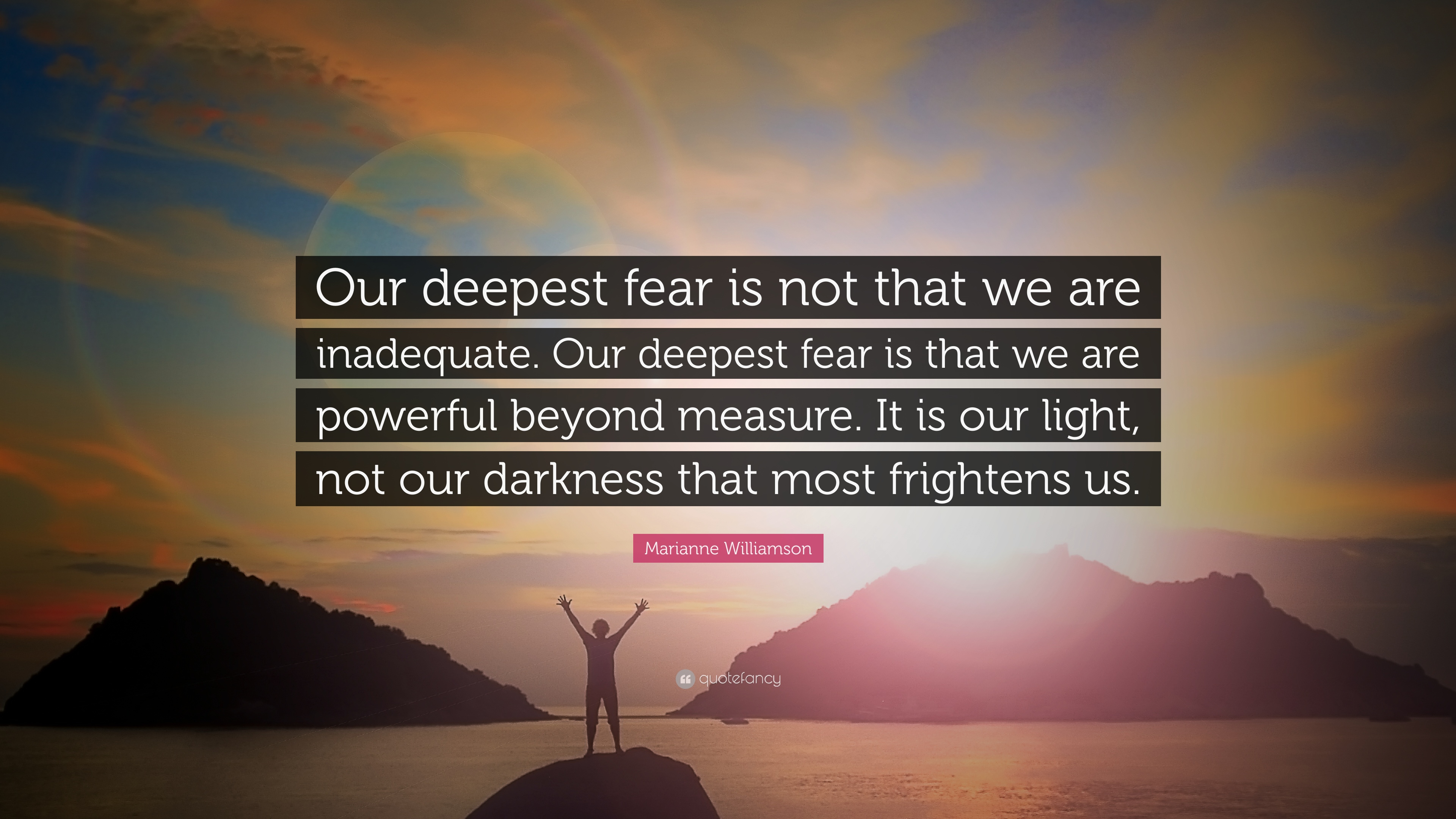 Marianne Williamson Love Quotes Fear Of Greatness Quote Picture