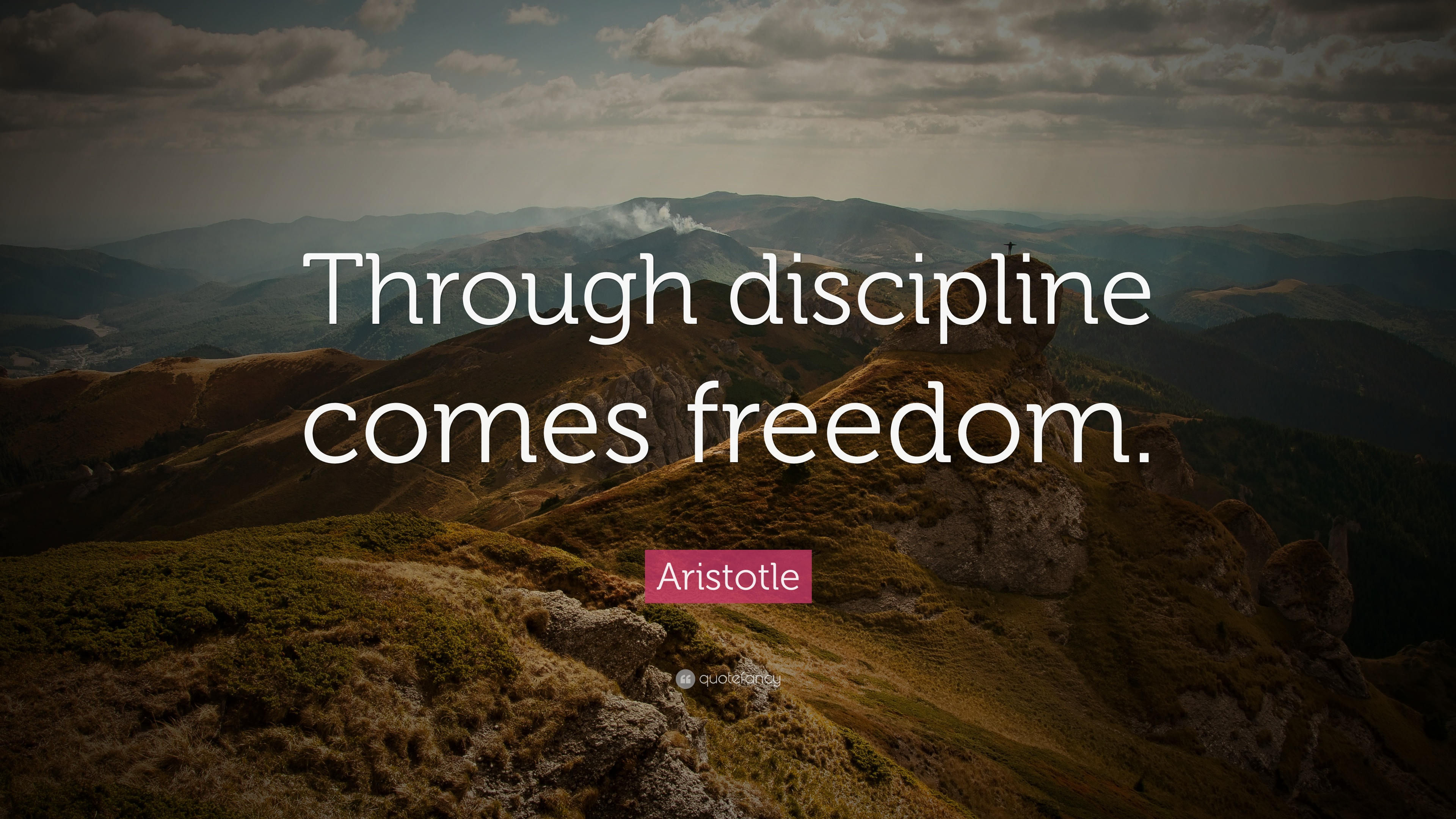 Business Quotes Wallpapers For Desktop Motivational Success Aristotle Quote Through Discipline Comes Freedom 33