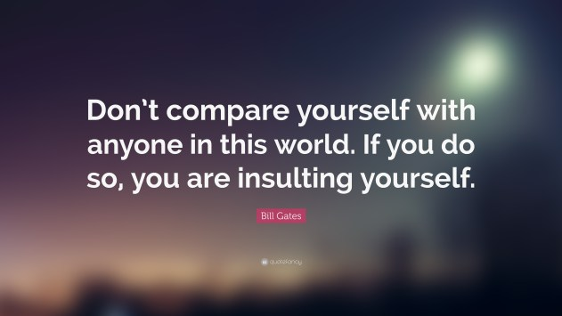 Image result for dont compare quotes