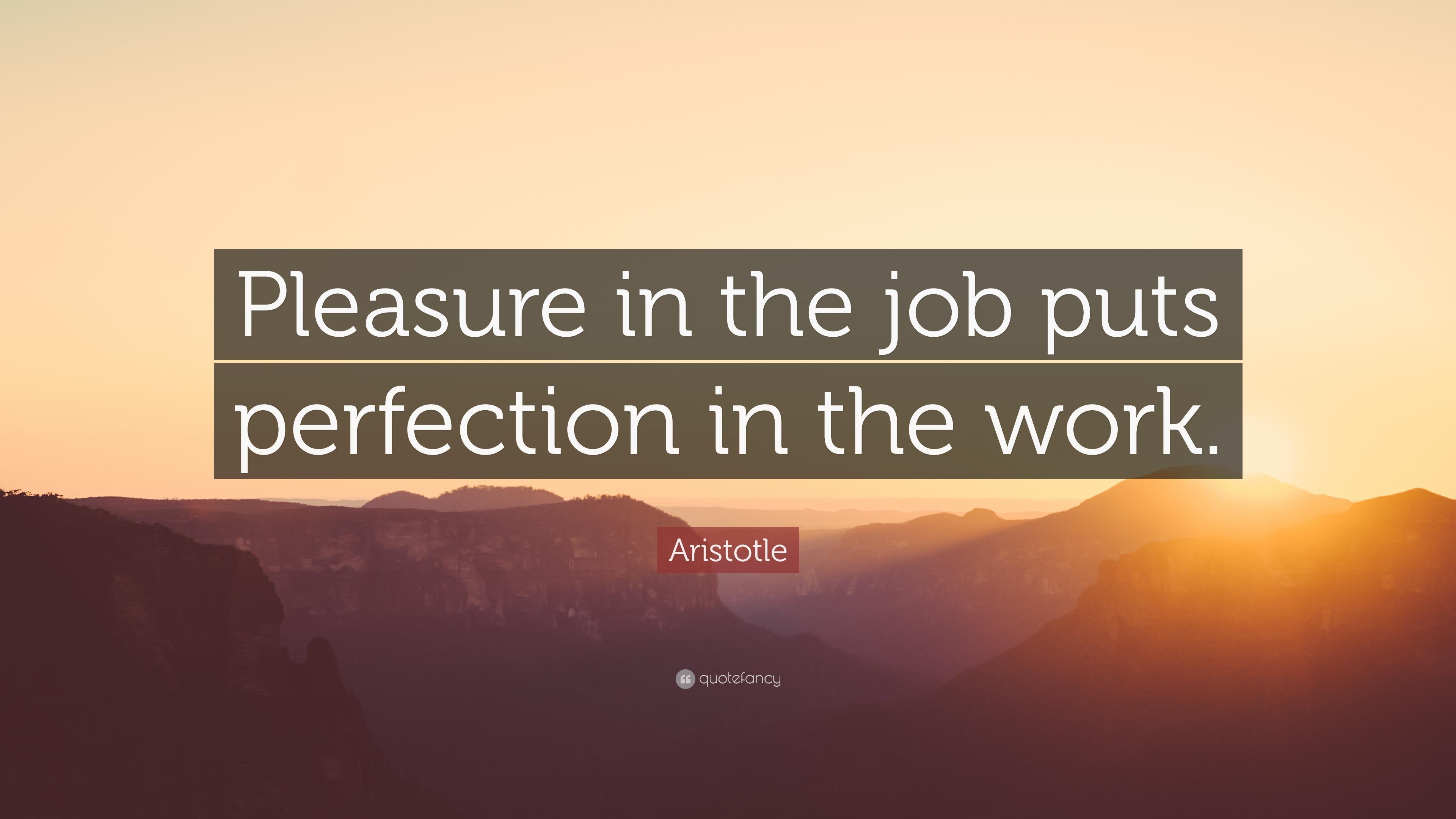 Aristotle Quotes Wallpaper Aristotle Quote Pleasure In The Job Puts Perfection In