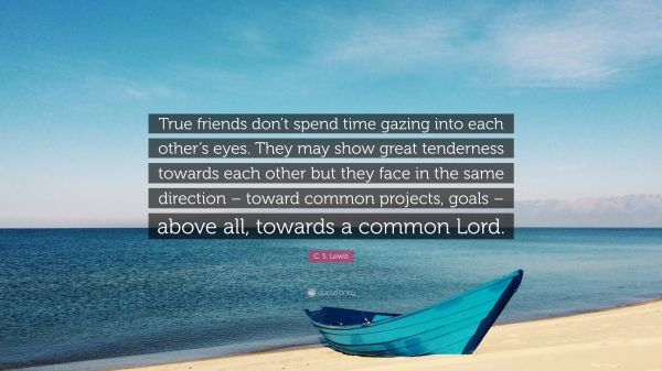 Lewis Quote True Friends Don T Spend Time Gazing