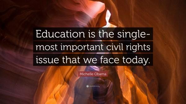 Michelle Obama Quote Education Single